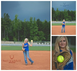 Softball senior picture